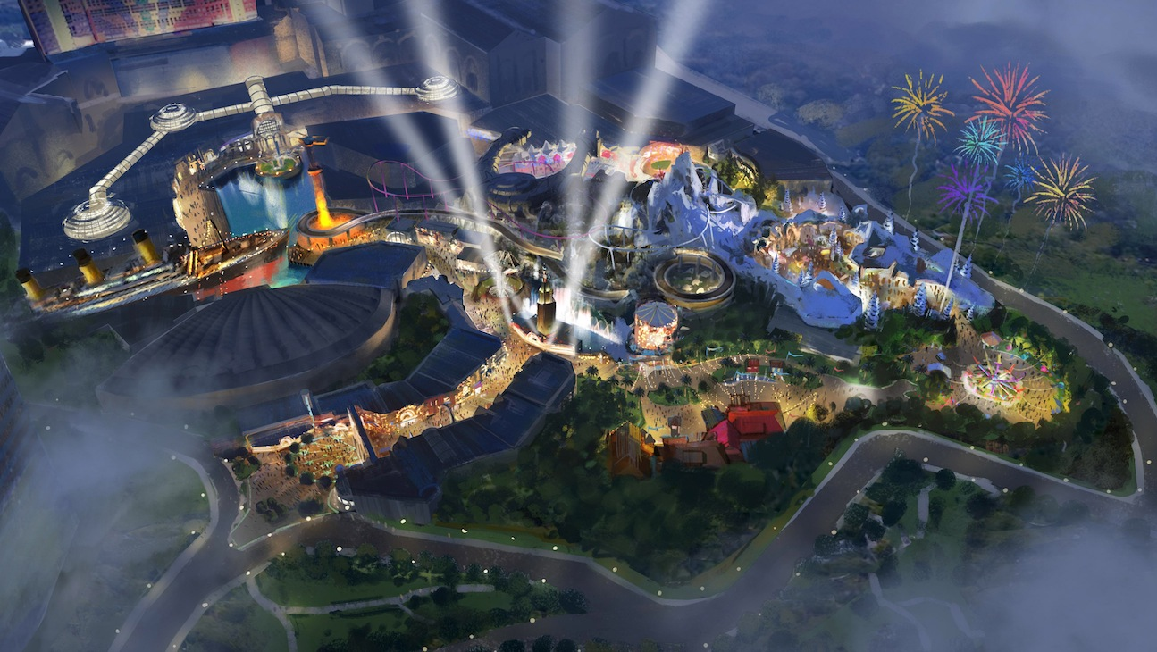 Graphic rendering of the 20th Century Fox World theme park that will open in Genting Highlands in 2016.
