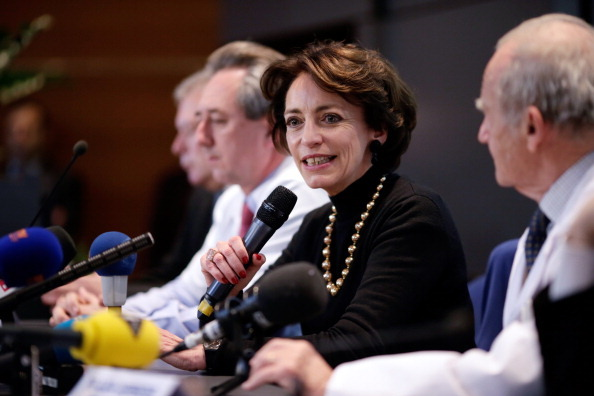 French Social Affairs and Health Minister Marisol Touraine speaks during a press conference at Georges Pompidou Hospital in Paris, on December 21, 2013, after the first human trial of an artificial heart, made on December 18.