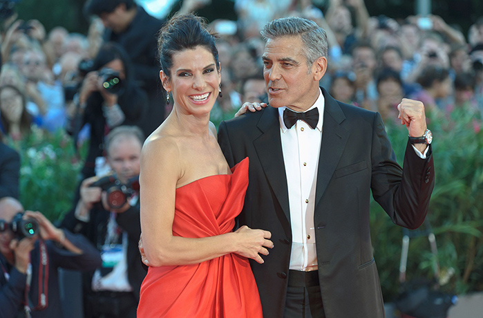 Sandra Bullock and George Clooney at the 70th Venice Film Festival. Photo from Rex Features.
