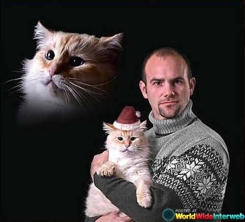 This man whose family is his pet cat