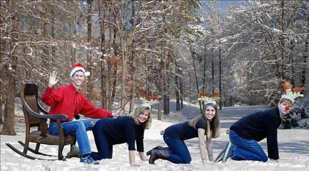 This family that is surprisingly good with Photoshop