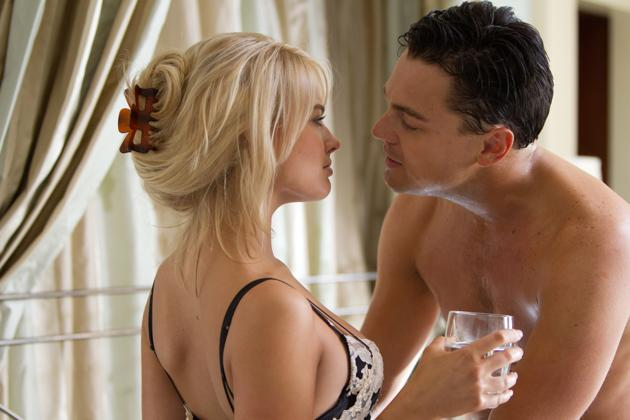 """Margot Robbie and Leonardo DiCaprio in Paramount Pictures' """"The Wolf of Wall Street"""" - 2013."""
