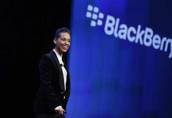 Singer songwriter Alicia Keys takes the stage after being introduced as the 'Global Creative Director' for Research in Motion (RIM) during the launch of the RIM Blackberry 10 devices in New York January 30, 2013.