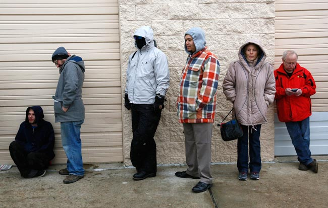 People wait in line to be among the first to legally buy recreational marijuana at the Botana Care store in Northglenn, Colorado January 1, 2014. Reuters   Read more at: http://indiatoday.intoday.in/story/worlds-first-state-licensed-marijuana-retailers-open-doors-in-colorado/1/334016.html