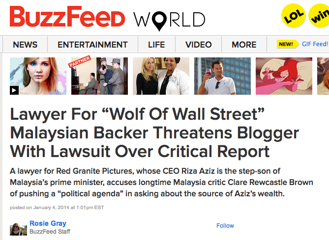 BuzzFeed published news of Clare Recastle-Brown being sued.