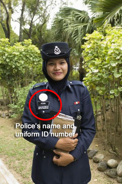 Take note of the police officer's name & uniform ID | Know Your Rights: Police