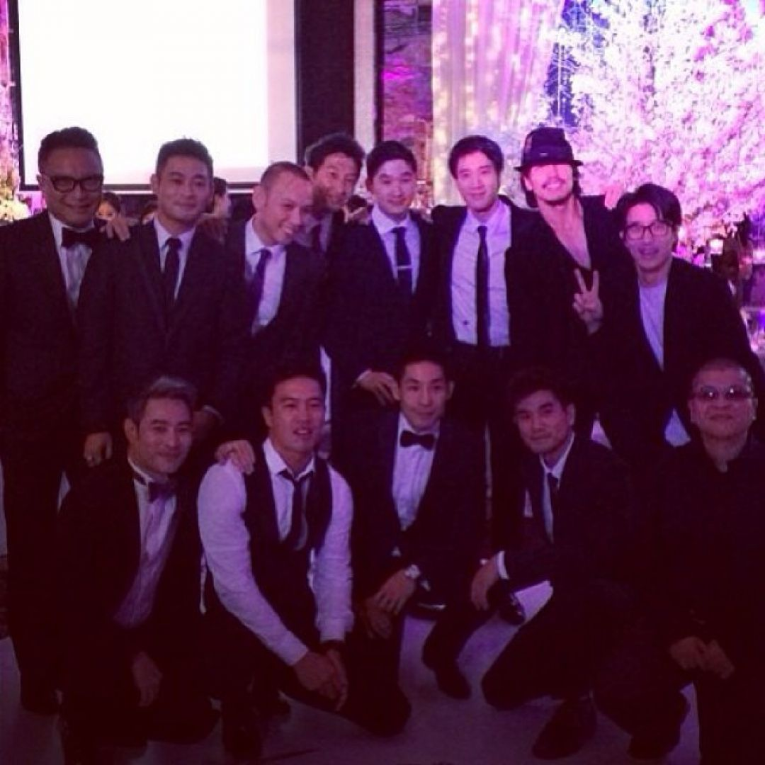Leehom Jerry Yan And Jaycee Chan Were Among The Celebrity Guests At Vanness Wu S Wedding In Singapore Photo Andy On Instagram Image Via