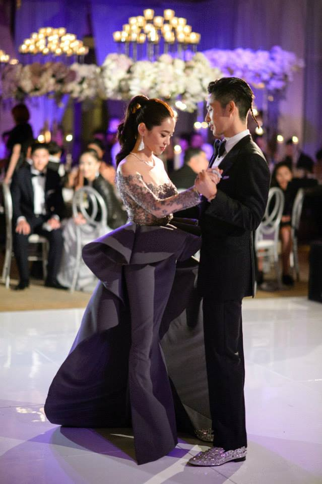 Vanness Wu and Arissa Cheo at their wedding ceremony in Los Angeles.