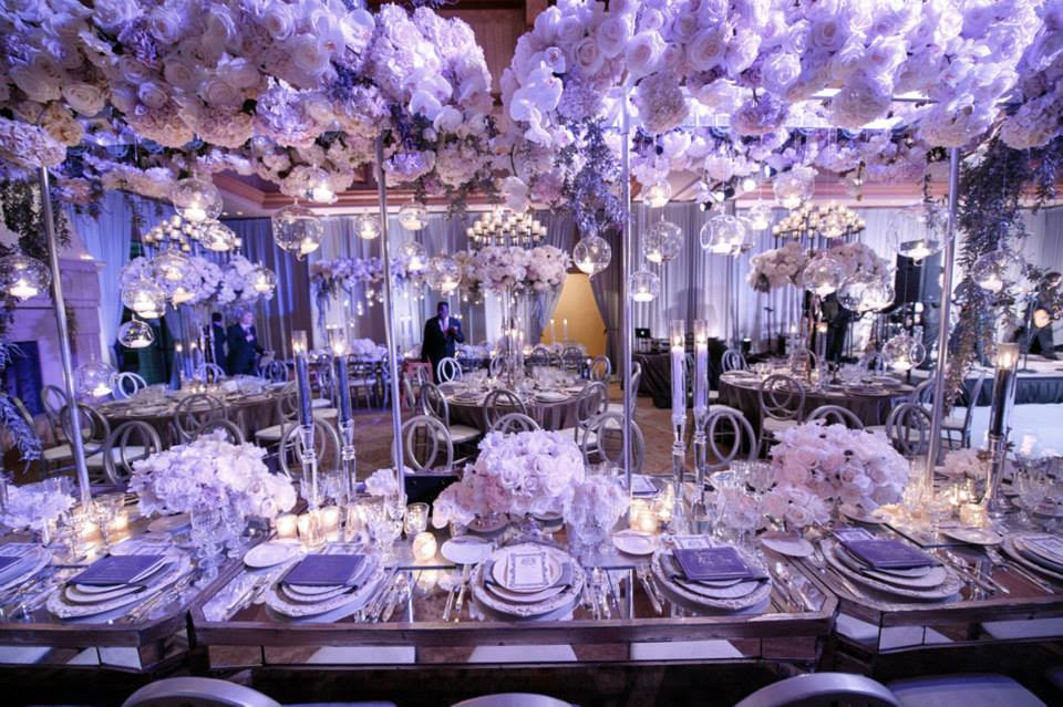 The wedding ceremony in Los Angeles had a rock n' roll fairytale glamour theme.