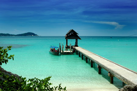 Redang archipelago located on the east coast of Malaysia.