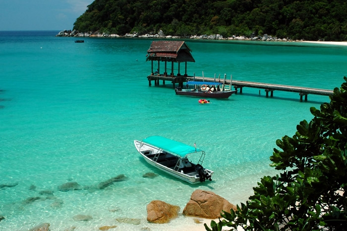 Tioman Island located off the east coast of Peninsular Malaysia.