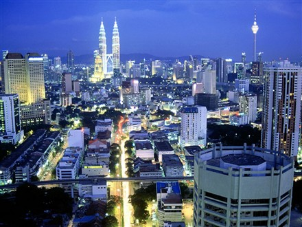 View of KL city.