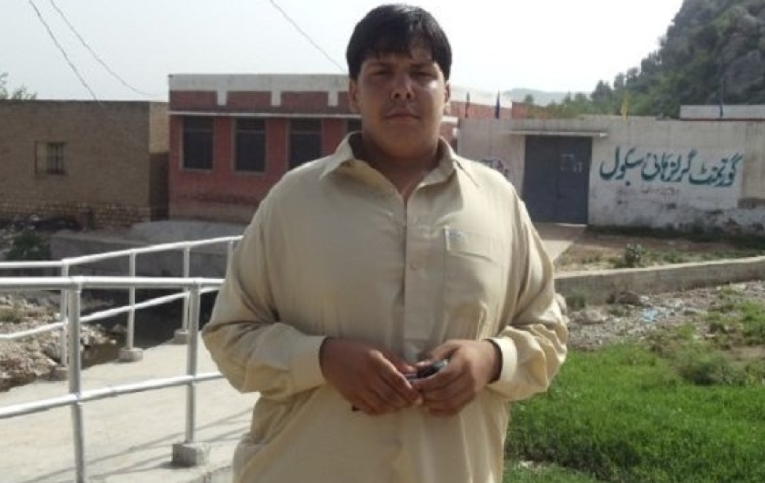 A picture posted on social media purportedly of Aitizaz Hasan