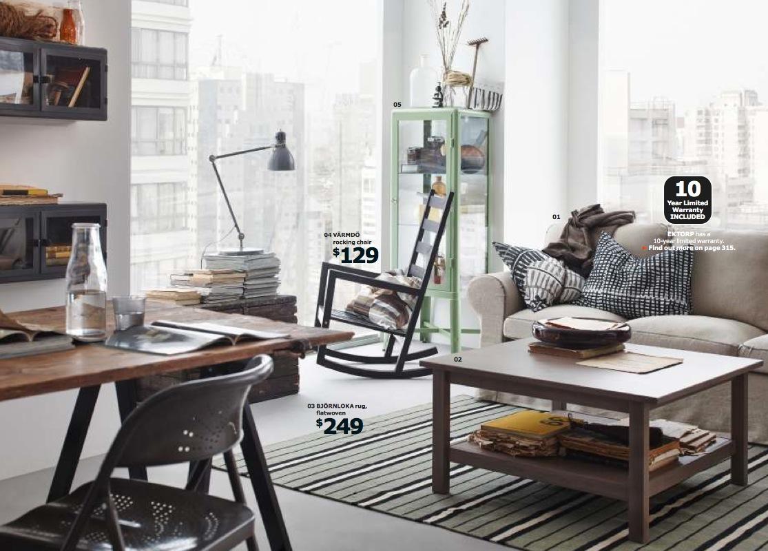 Ikea 2014 classic living from the 2014 Ikea catalogue.