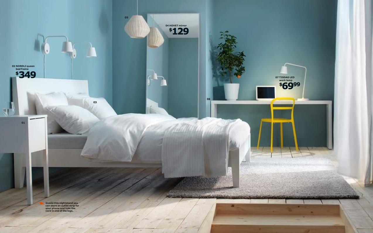 Ikea 2014 bedroom, from the 2014 Ikea catalogue.