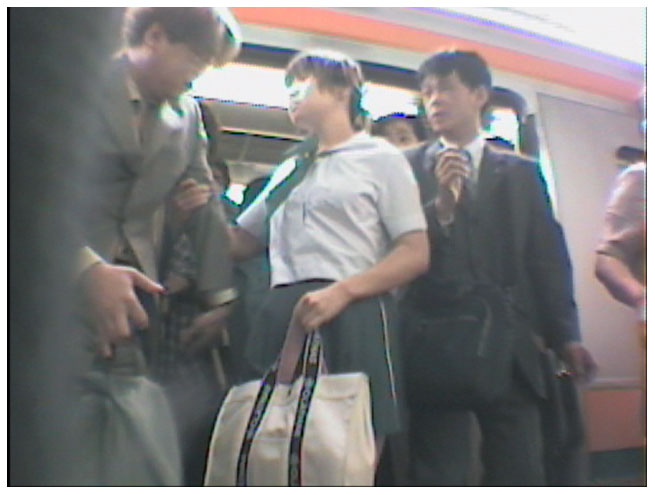 Japanese girl groped on train