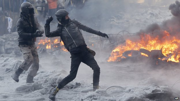 The protests are taking place amid snowfall and freezing temperatures