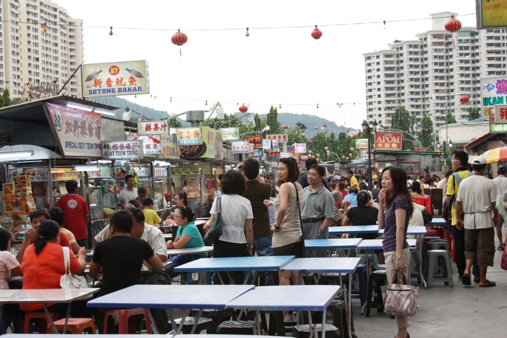 Gurney Drive Hawker Centre in Penang, Malaysia.