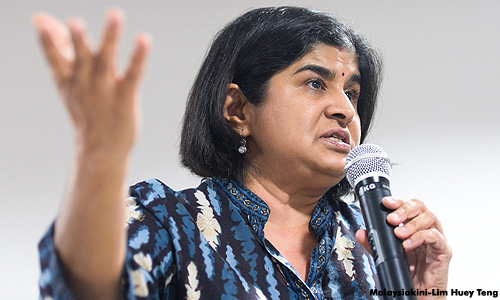"Ambiga, ""The People Of Kajang Need To Know If They Are Voting For The Future MB Of Selangor."""