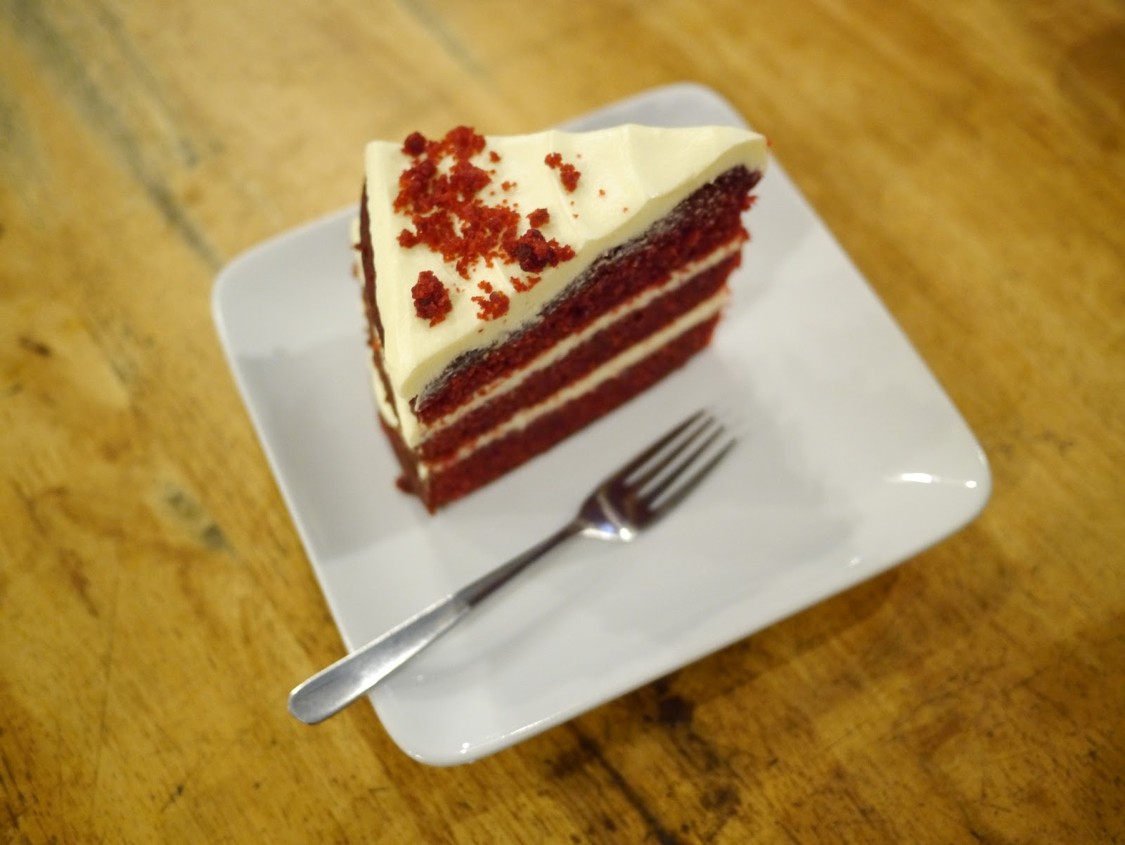 Red velvet cake from Souka.