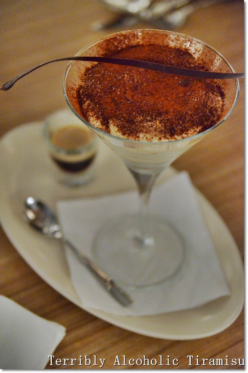 Terribly Alcoholic Tiramisu, RM18/USD6 per serving.