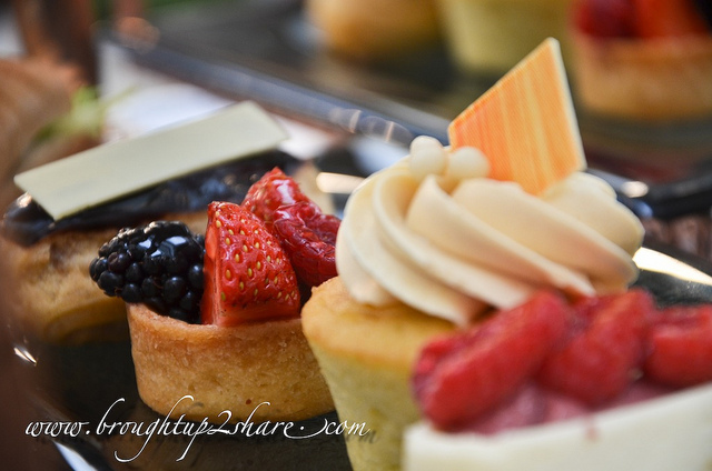 Cakes and pastries at The Orchid Conservatory.