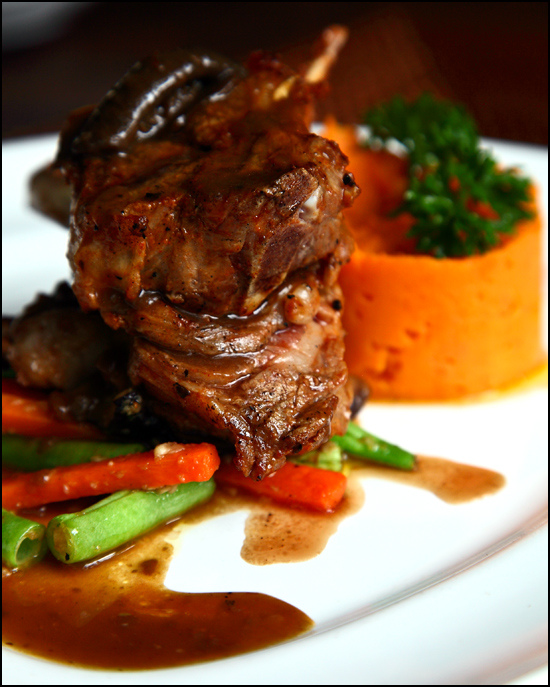 Grilled Rack of Lamb with highland vegetable and mashed sweet potato @ RM58.