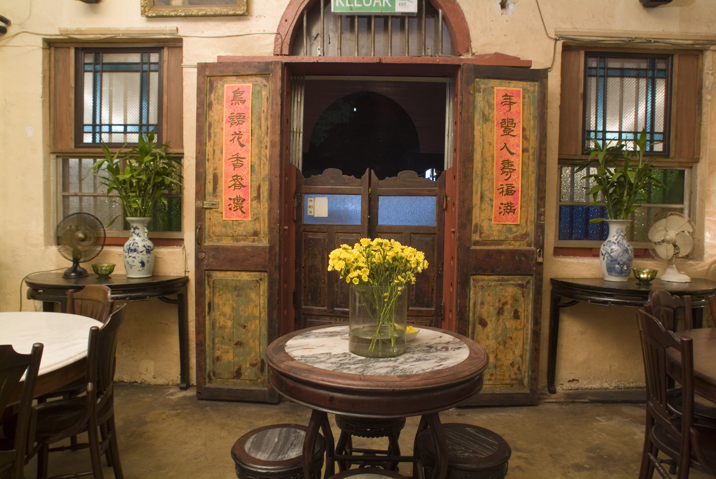 The entrance of Old China Cafe.