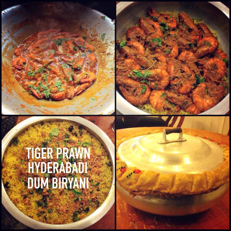 Tiger Prawn Hyderabadi Dum Biryani