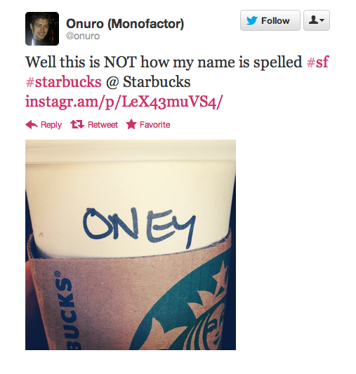 Onuro misspelled for 'Oney'