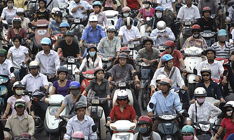 Rush hour in Vietnam.