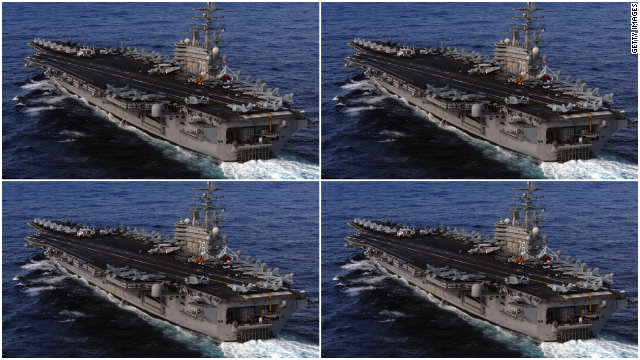 Facebook's top executives Mark Zuckerberg, Sheryl Sandberg, David Ebersman, and Mike Schroepfer would look pretty stylish cruising the San Francisco Bay in four Nimitz-class nuclear-powered aircraft carriers ($4.5 billion each).