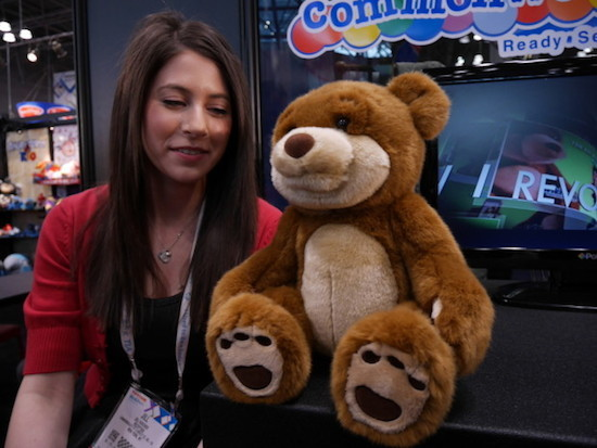 The WikiBear uses the Internet to answer your questions.