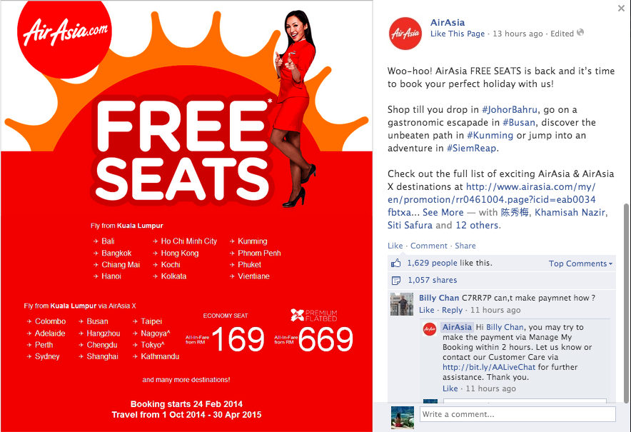 Image from Air Asia