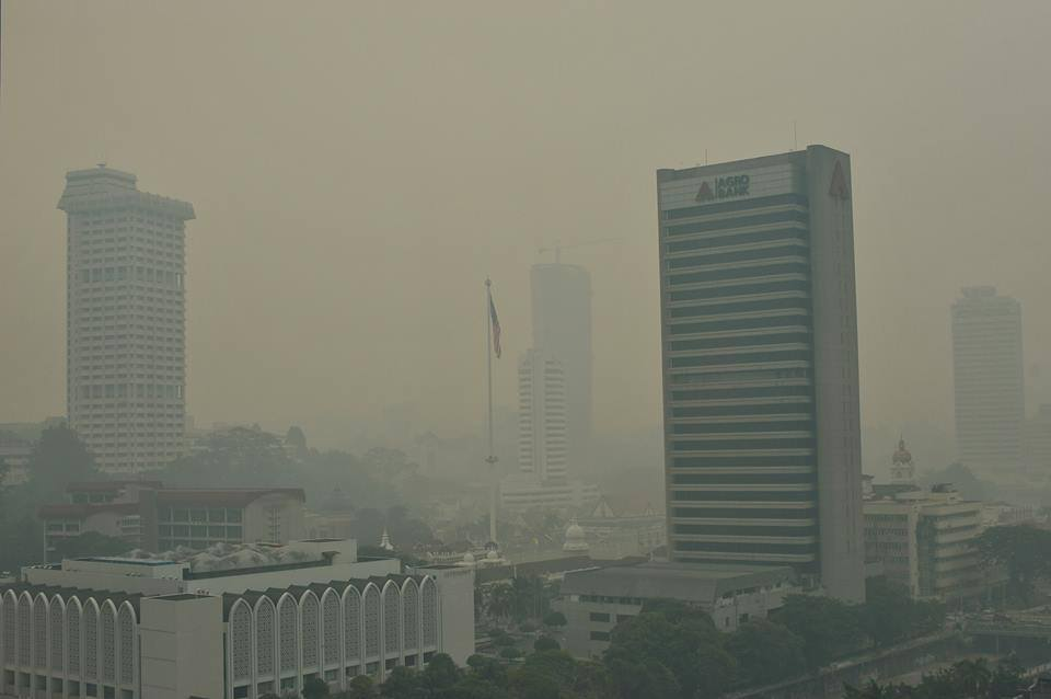 KL skyline covered by haze on 3 March 2014.