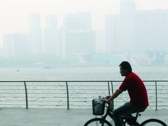 The NEA said Singapore might experience occasional slight haze due to the accumulation of particulate matter under stable atmospheric conditions. Today