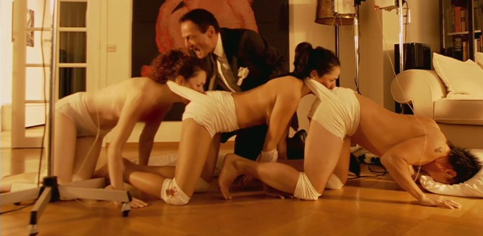 Movie still from The Human Centipede