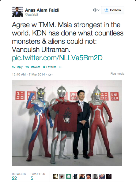Malaysians commenting on the Ultraman ban on Twitter