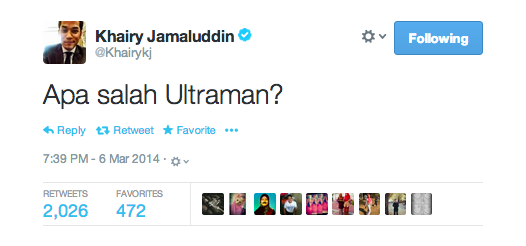 "Youth And Sports Minister Khairy Jamaluddin Asked ""What Was Ultraman's Fault?"""