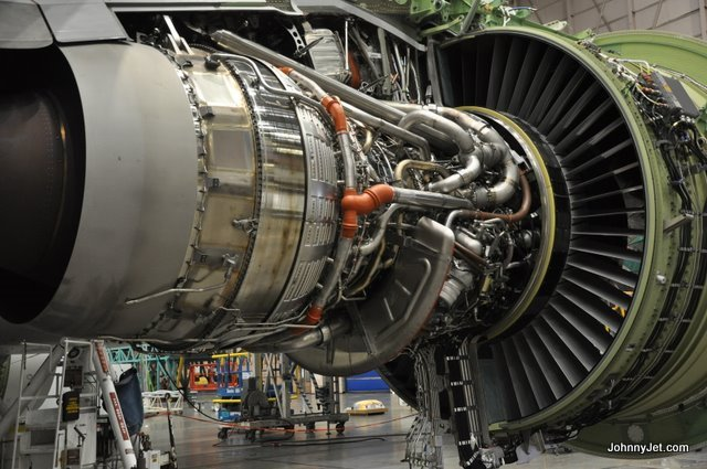 What a Boeing 777 engine looks like underneath the hood