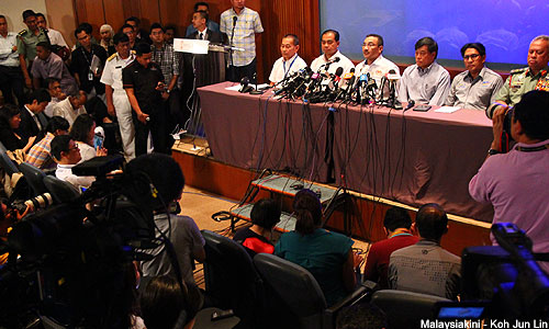 Four individuals on MH370's passenger manifest might be linked to stolen or faked passports, acting Transport Minister Hishammuddin Hussein said today.