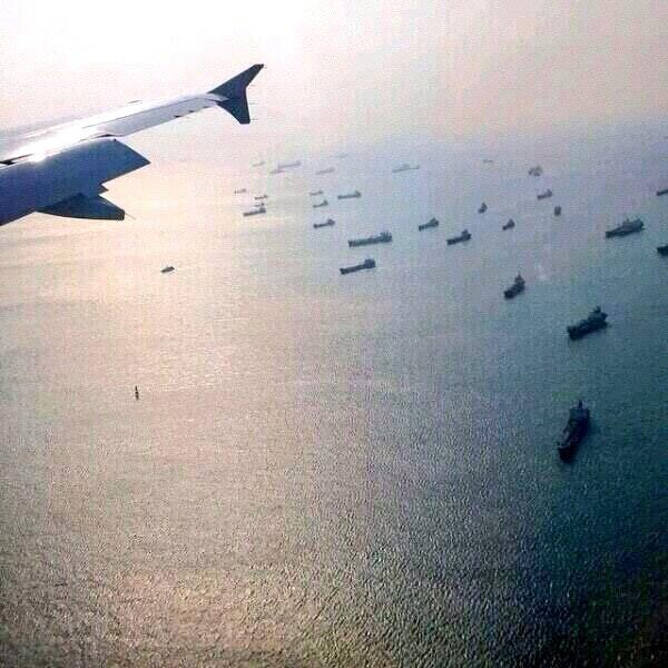 This unverified picture from from several countries in search to  find MH370 has gone viral on social media.