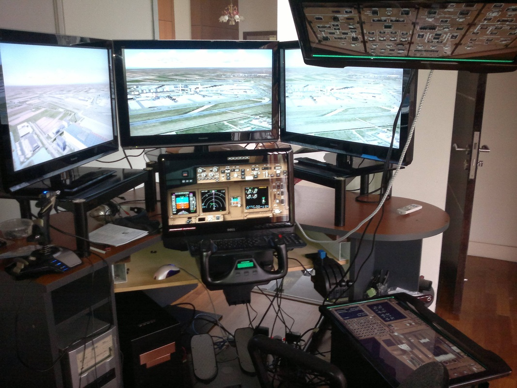 When not flying his Boeing 777, he still flies a Boeing 777 at home