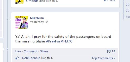 Mizz Nina on MH370.