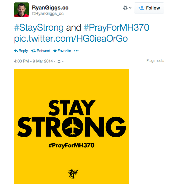 Ryan Giggs for MH370.