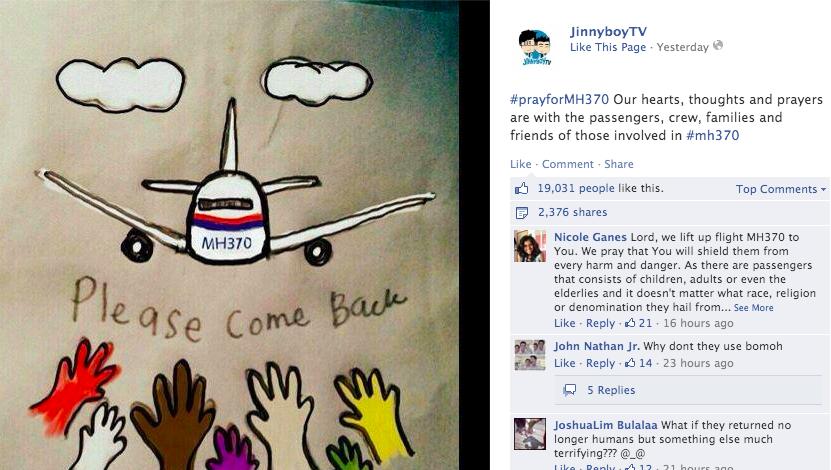 JinnyboyTV on MH370.
