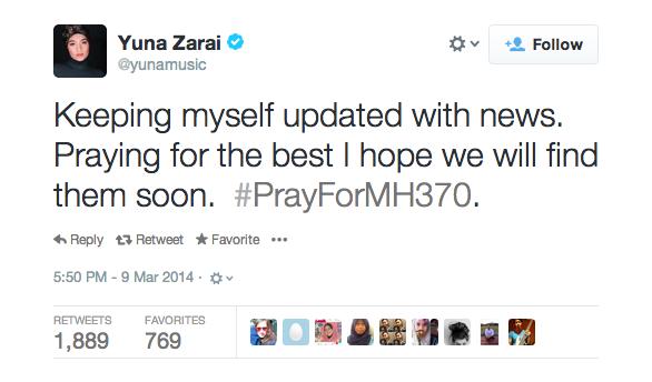 Yuna on MH370.