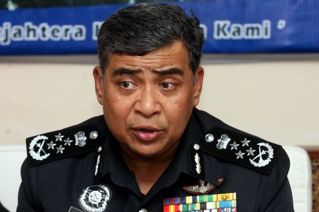Inspector General of Police Tan Sri Khalid Abu Bakar
