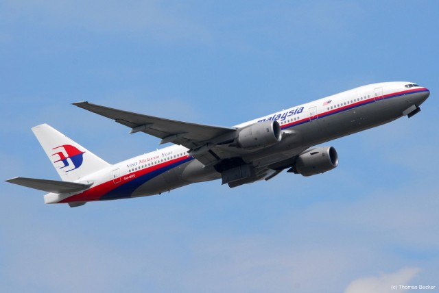 This Boeing 777-200ER (reg number: (9M-MRO) is suspected to be the one flown on Malaysia Airlines' flight MH370