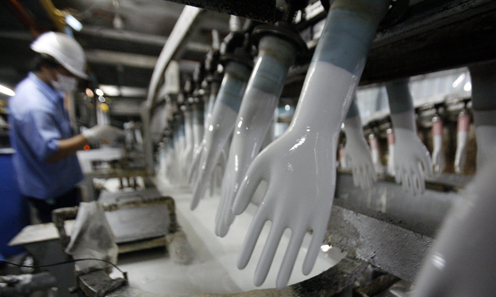Top Glove manufacturing plant